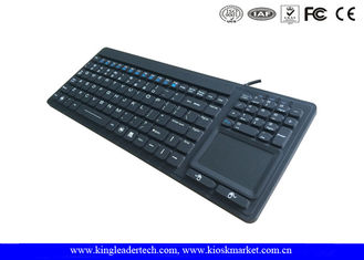 Waterproof Silicone Keyboard With 107 Keys / Touchpad Including FN Keys / Numeric Keypad
