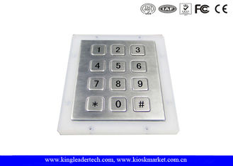 Rugged Metal Numeric Keypad With 12 Short-Travel Keys Panel Mount